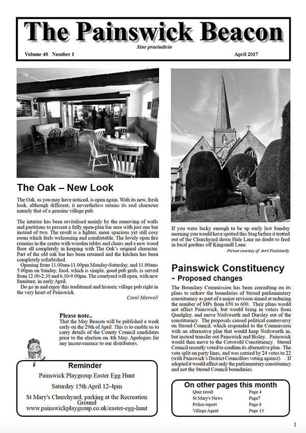 Painswick Beacon April 2017 Edition