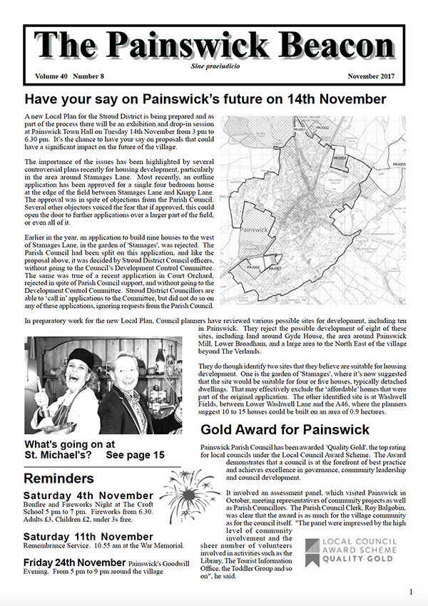 Painswick Beacon November 2017 Edition