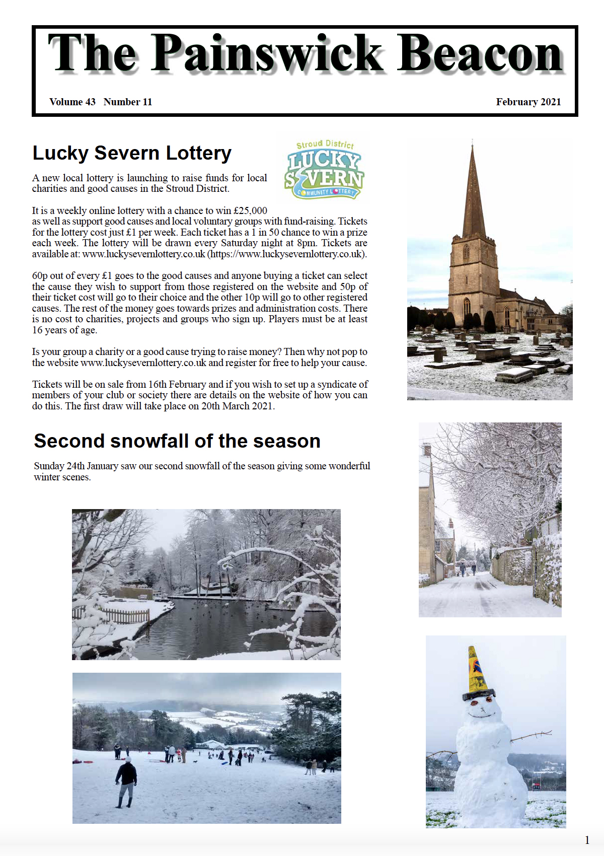 The latest edition of The Painswick Beacon Feb 2021